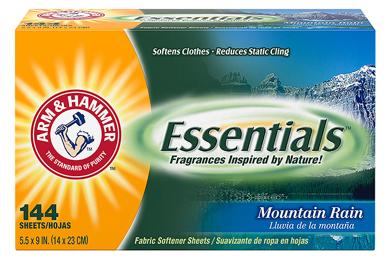 Essentials Dryer Sheets, Mountain Rain, 144 Sheets/Box, 6 Boxes/Case, Sold Case
