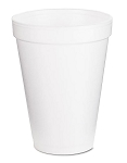 Foam Drinking Cup - 12oz - White - 25/Bag - 40 Bags/CS - Sold Case