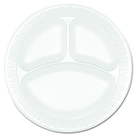 Styrofoam 3 Compartment Plate 9