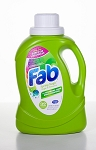 Fab 2X HE Liquid Laundry Detergent - Spring Magic Scent - 50 oz Bottle - 6 Bottles/CS - Sold Case