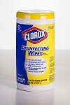 Clorox Disinfecting Wipes - Lemon - 75 Wipes Per Canister - 6 Canisters Per Case - Sold Case