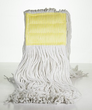 "Cut End Rayon Wet Mop with 5"" Headband - White - 12 OZ - 12/CS - Sold Each"
