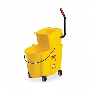 Rubbermaid Wavebrake 35-Quart Bucket/Wringer Combination - Yellow