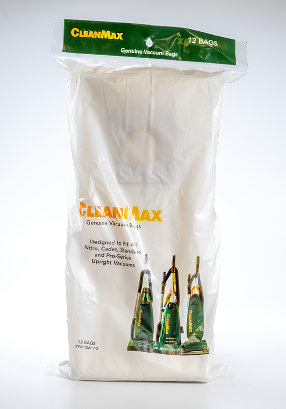 Cleanmax Pro Series and Cadet Paper Bags 12 Bags/Package, Sold Package