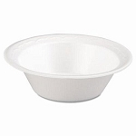 Foam Bowls, 12 Ounce,  White, 125/Pack, 8 Packs/CS, Sold Case