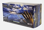 Dark Light Black Nitrile Powder Free Exam Glove, Textured, Size XXL 90 Gloves Per Box, 10 Boxes Per Case, Sols Box