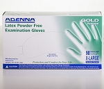 Gold Series Latex Powder Free Exam Gloves - X-Large - 90 Gloves Per Box - 10 Boxes Per Case - Sold Box