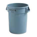 32 Gal Round Brute Container, Gray