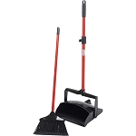 Lobby Broom And Dust Pan Set (Open Lid), 2/Case, Sold Each
