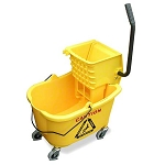 MaxiRough Mop Bucket and Wringer, Yellow