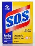 S.O.S. Steel Wool Soap Pad - 15 Pads/Box - 12 Boxes/CS - Sold Box