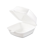Styrofoam Carry Out Food Container, Single Compartment, 5 1/2 X 5 3/8 X 2 7X8 500/Cs, Sold Case