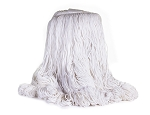 Reflections Looped End Finish Mop - Size Medium With 1 1/4 inch White Headband, Single Tailband, 12/Cs Sold Each